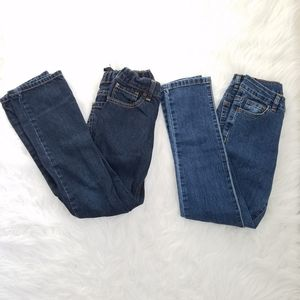 OLD NAVY & FADED GLORY Lot Of 2 Slim Jeans Size 8